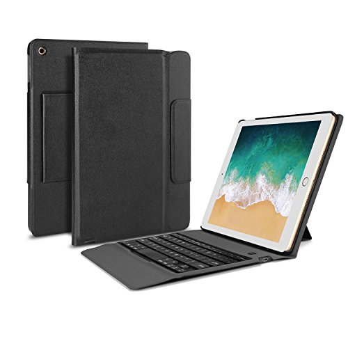 Buy Bargain OMOTON New iPad 9.7 2018 & iPad 9.7 2017 Keyboard Case, [Upgraded Version] Ultra-Thin Bl...