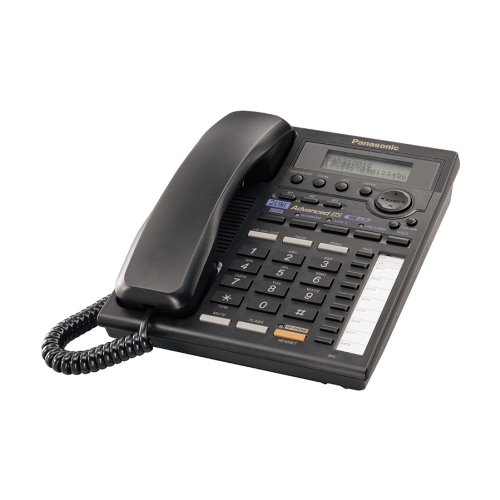 Panasonic Kx Ts3282b 2 Line Expandable Corded Phone With Data Port  Black