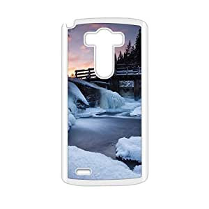 Personalized protective cell phone case for LG G3,glam snow river design by lolosakes