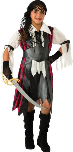 Pirates Of The Caribbean Costume Girl (Caribbean Pirate Costume, Large)