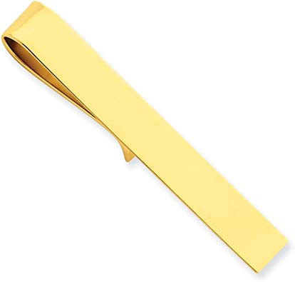14k Yellow Gold Engravable Tie Bar
