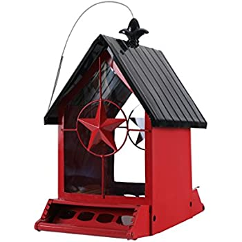 Amazon Com Phi Villa House Bird Feeder Red And Black