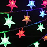 Tuersuer Warm and Beautiful Led Decorative Lights,Christmas 3M 20 Lights Five-Pointed Star Outdoor Decorative Lights