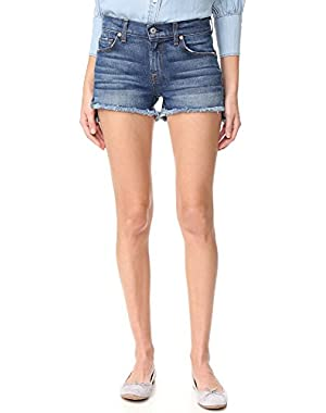 7 For All Mankind Women's Cutoff Step Hem Shorts