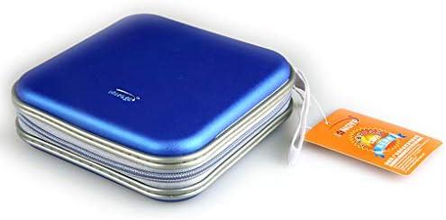 Yeqoo - Estuche portátil para CD y DVD (40 discos, caja rígida para almacenamiento de DVD de doble cara): Amazon.es: Electrónica