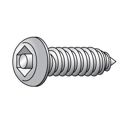 Tamper Screw, Button, 8, 1 1/2 L, PK25
