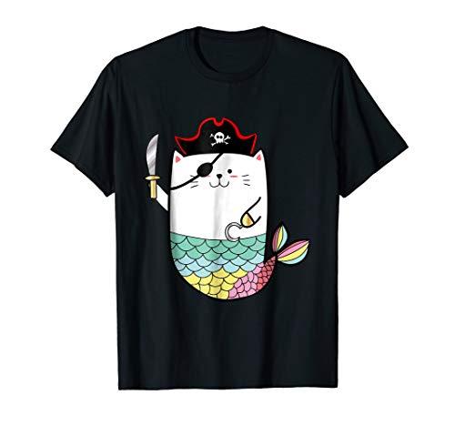 Halloween Mermaid Pirate Cat T-shirt