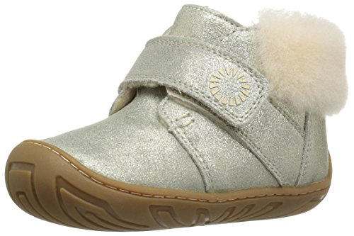 (UGG Big Girls Jorgen Metallic Ankle Boots Yellow Size 23)