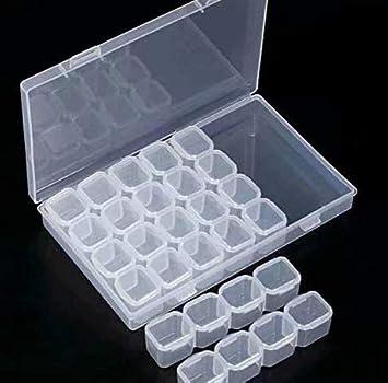 Caja de almacenamiento con 28 contenedores extraíbles peque?os - Organizador de plástico para joyería, accesorios para arte de u?as, herramientas.: Amazon.es: Bricolaje y herramientas