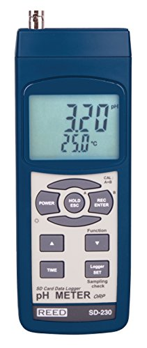 REED Instruments SD-230 SD Series pH/ORP Datalogger, 0.00 to 14.00 pH / 0-1999 mV