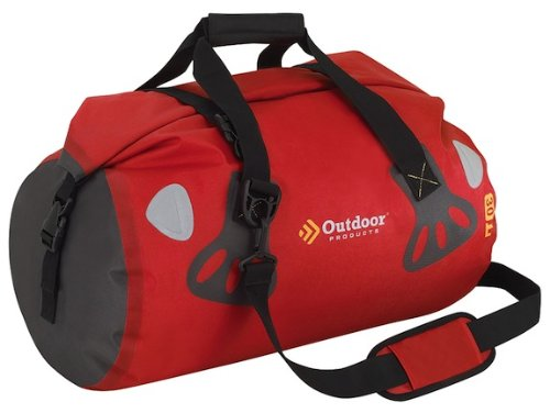 Outdoor Products Weather Defense Rafter Duffle, 30-Liter, Red