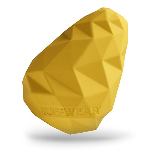 Faceted Cone - RUFFWEAR - Gnawt-a-Cone Durable Dog Toy, Dandelion Yellow