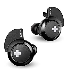 Philips BASS+ SHB4385 Wireless in-Ear Earbuds, with up to 6+6 Hours of Playtime, Charging case - Black