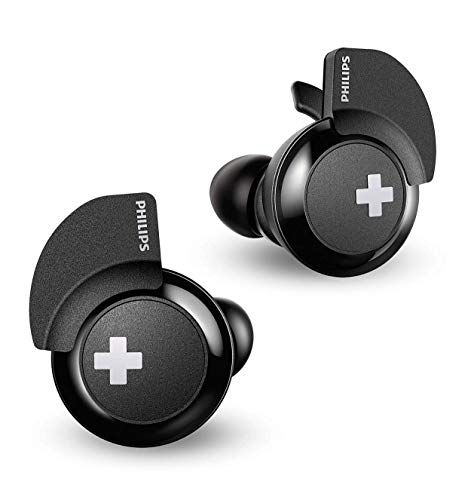 Philips BASS+ SHB4385 Wireless in-Ear Earbuds, with up to 6+6 Hours of Playtime, Charging case - -
