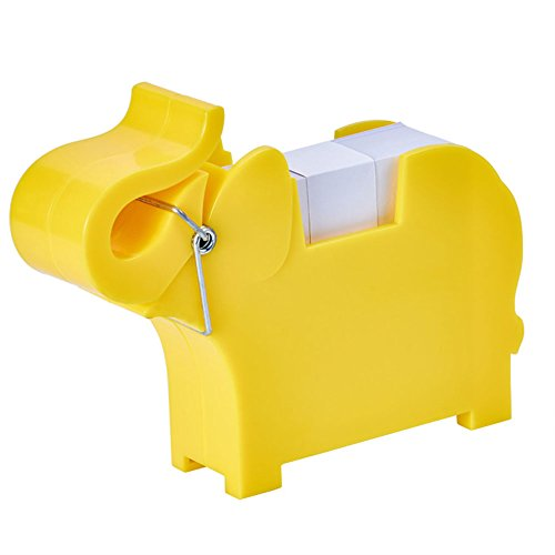 Lzttyee Animal Shape Multi-functional Plastic Memo Holder/Note Dispenser/Desktop Note Pad/Pen Holder with 200 Sheets Memo Pad for Office School Supplies (Elephant Yellow) by Lzttyee (Image #6)