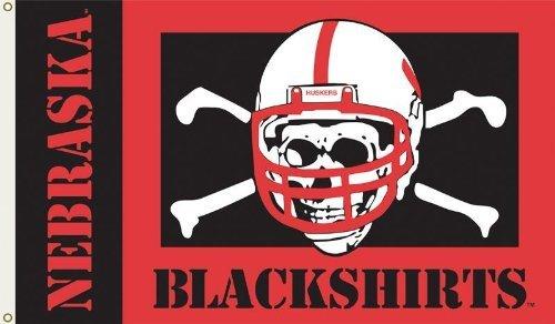 Nebraska Huskers Tailgate - NCAA Nebraska (Blackshirts) 3-by-5 Foot Flag with Grommets