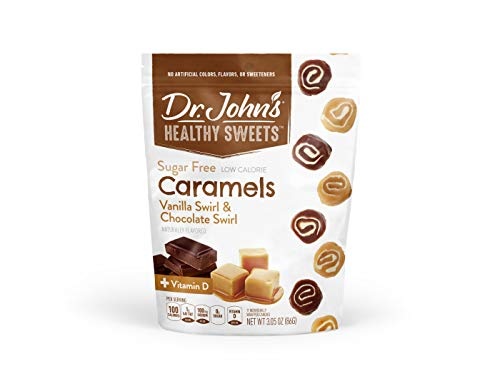 Dr. John's Healthy Sweets Caramel Swirls, Sugar Free with Xylitol - 3.05 oz bag