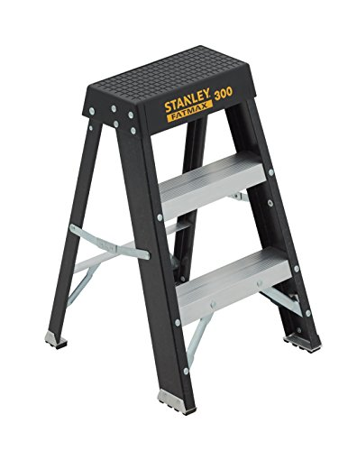Stanley SXL3011-02 ft 300-lb FatMax Fiberglass Step Stool 02-Foot 300-Pound Load Capacity, 2, Black
