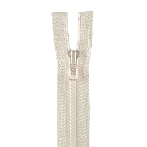 Clark Molded Separating Zipper (Coats & Clark Medium Weight Molded Separating Zipper 20in Natural)