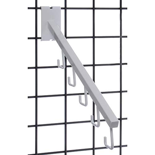 Grid Display Waterfall Tube 5 Hook Square for White