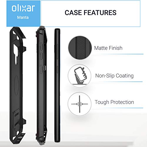 premium selection 206ac 358f0 Olixar Samsung Galaxy Note 9 Tough Case with Screen Protector - Case  Compatible Tempered Glass - Tough Protective Case - Front + Back 360 Degree  Full ...
