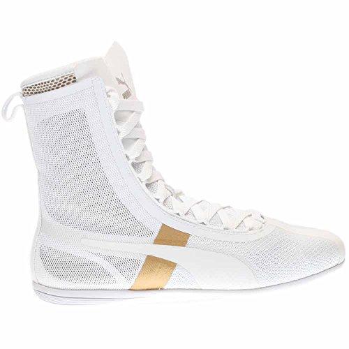 PUMA Damen Eskiva Hi EVO Knöchelhoher Fashion Sneaker Puma Weiß / Gold