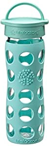 Lifefactory 13827 - Botella, cristal, 450ml, color turquesa