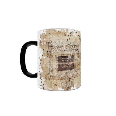 Morphing Mugs Harry Potter (Marauder's Map) Ceramic Mug, Black