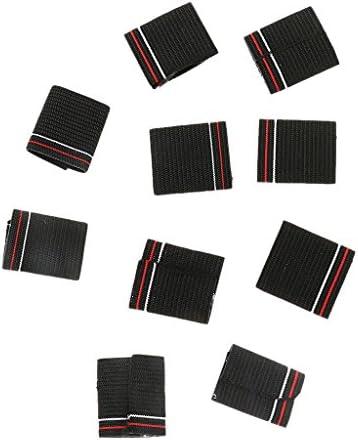 Chiwanji 10 stuks basketbalhandschoenen elastisch voor accolade polsbescherming zwart