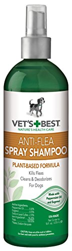 Vets Best Anti-Flea Spray Dog Shampoo. 16 oz, USA Made