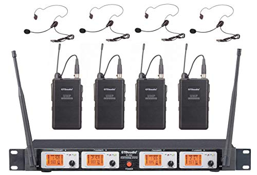 Lavalier Vhf Mic (GTD Audio U-504L VHF Wireless Microphone System with 4 Headset, Lavalier (Lapel) mics)
