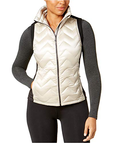 Calvin Klein Performance Womens Quilted Down Vest Beige XXL ()