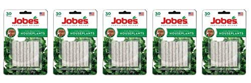 (Lot of 5 Packages of Jobe's Fertilizer Spikes for House Plants (30 spikes/package))