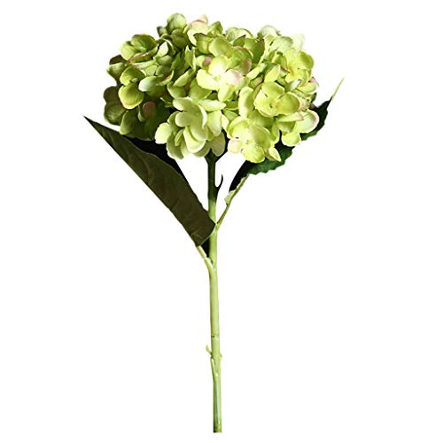 Iusun Hydrangea Artificial Flower Valentine's Day Bridal Wedding Bouquet Party Festival Holiday Hanging Green Plant Vase Potted Decorations Gift Hot Ornament (F) (Zinnia Centerpiece)