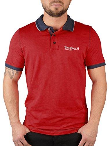 Herren Baumwoll Polo Shirt : Poloshirt Beale Street 56 linke Brust -- Herren Poloshirts mit Logo Farbe: rot Gr: L