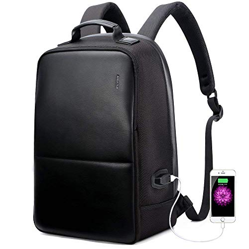 - BOPAI Anti-Theft Business Backpack 15.6 Inch Laptop Water-Resistant with USB Port Charging Travel Backpack Anti-Glare Functional Rucksack Light-Weight Backpack for Men (15.6 inch, Black)