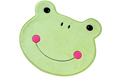 Small Bath Mat Accent Rug For Home Kitchen Toy Room or Nursery | Non-Slip Line Dry Washable | Colorful Animal Designs Delight Toddlers Babies Children and Adults (Light Green 29 ()