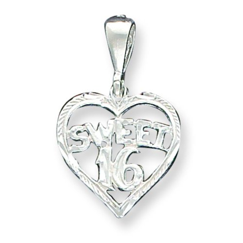 Sterling Silver Sweet 16 Heart