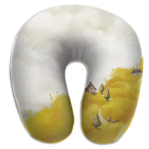 DENETRI DYERHOWARD U-Shaped Neck Memory Foam Pillow Art