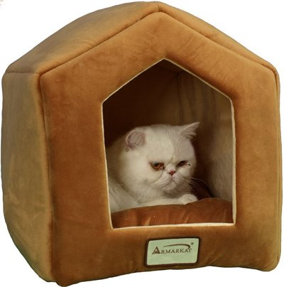 Armarkat-Cave-Shape-Pet-Cat-Beds-for-Cats-and-Small-Dogs-Waterproof-and-Skid-Free-Base