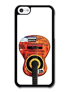 MMZ DIY PHONE CASEOasis Guitar with Quotes White Background case for ipod touch 5