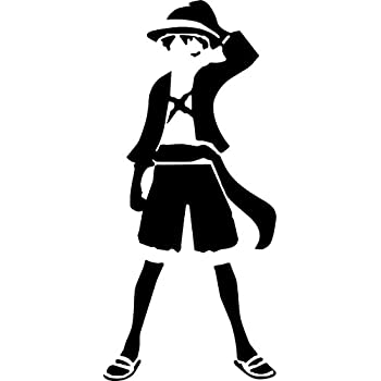 5161011d5 Amazon.com: ONE PIECE ANIME LUFFY STANDING SILHOUETTE VINYL STICKERS ...
