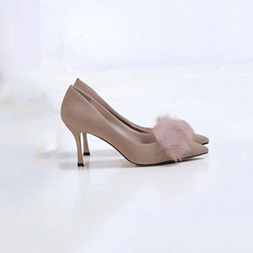 Sunny Chaussures pour Femmes Talons Hauts Chaussures De Mariage Gommage Bouche Peu Profonde Pointu Travail Loisirs Beige pCgI1tZ