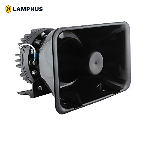 LAMPHUS SoundAlert 100W 120-130 dB Volunteer Emergency Vehicle Warning Siren Speaker