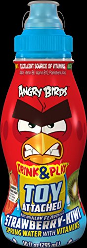 Angry Birds Kids Health Beverage Strawberry-kiwi Water 18 Pack with Toy (Angry Bird Surprise)