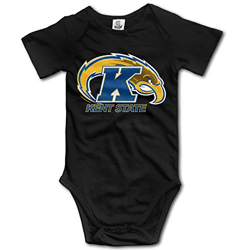 Price comparison product image OOKOO Baby's Kent State University Athletic Logo Bodysuits Black 6 Months