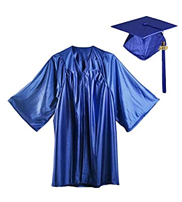 HEPNA [2019 Uniforms Preschool&Kindergarten Shiny Graduation Gown Cap Tassel Set