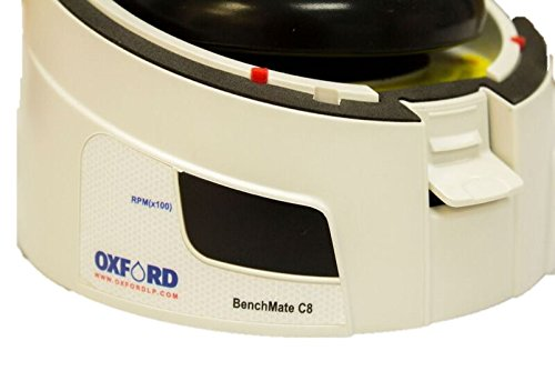 Oxford Small Digital Micro Centrifuge 8 X 1.5/2.0 mL Capacity, with 2 Adaptor for 0.4, 0.5, 0.2 mL, 6000rpm / 2000xG Speed, While by Oxford Benchmate (Image #3)