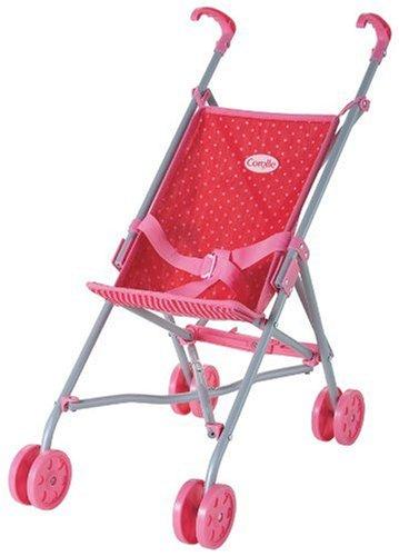 Corolle Les Classiques Doll Accessories (Red/Fuchsia Umbrella Stroller)