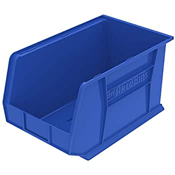 Image of Home Improvements Akro-Mils 30260 Plastic Storage Stacking Hanging Akro Bin, 18-Inch by 11-Inch by 10-Inch, Blue, Case of 6
